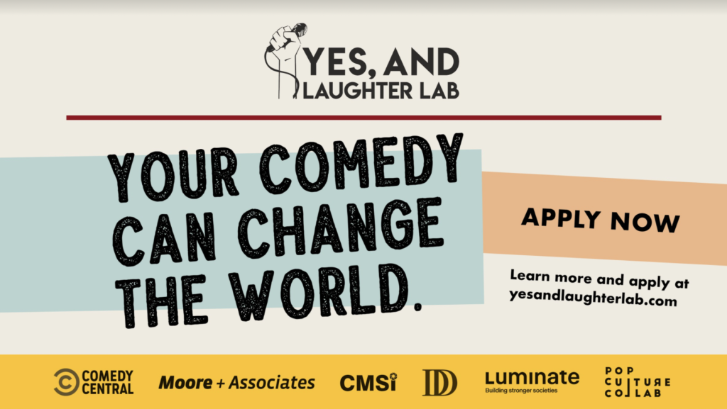 Yes, And… Laughter Lab opens 2021 Comedy and Social Justice Program to Showcase Diverse Comedians