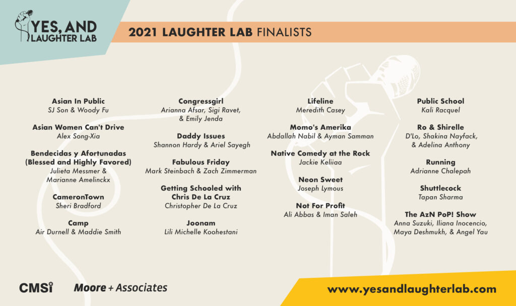 Yes, And… Laughter Lab Announces 2021 Finalists